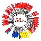 Molino de Extremo, For Sharp y talla las herramientas durables, 50PCS 30/45/60 grados Roland plotter de corte del cortador del vinilo offset de la cuchilla Cuchillas