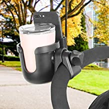 Geraffely 2-in-1 Baby Bottle/Water Cup/Coffee and Mobile Phone Holder Stroller Cup Holder for Buggy Pushchair Wheelchair Bike and More