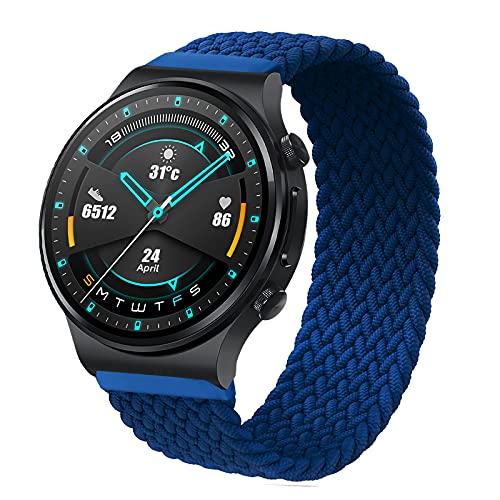 RIOROO 22mm Correa Compatible para Garmin Vívoactive 4 Correas, Pulsera Compatible para Huawei Watch GT 2 (46 mm)/Galaxy Watch 3 para Mujeres Hombres Sport Elástica Tejida Repuesto Banda(sin R