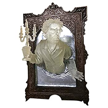 Ghost in The Mirror Wall Plaque Wall Sculpture Decor,3D Glow in The Dark - Spooky Hanging Wall Sculptures,Emerging From a Mirror Art Wall Decor,Victorian Ghost Mirror Art Modern Statue  Man