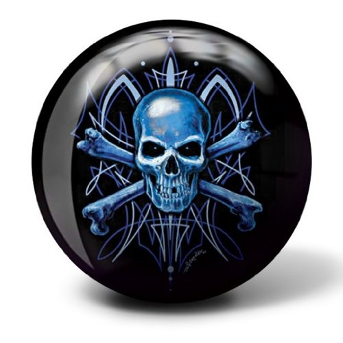 Brunswick Bowling Products Skull Viz A Ball Bowling Ball 12Lbs, Blue/Black, 12