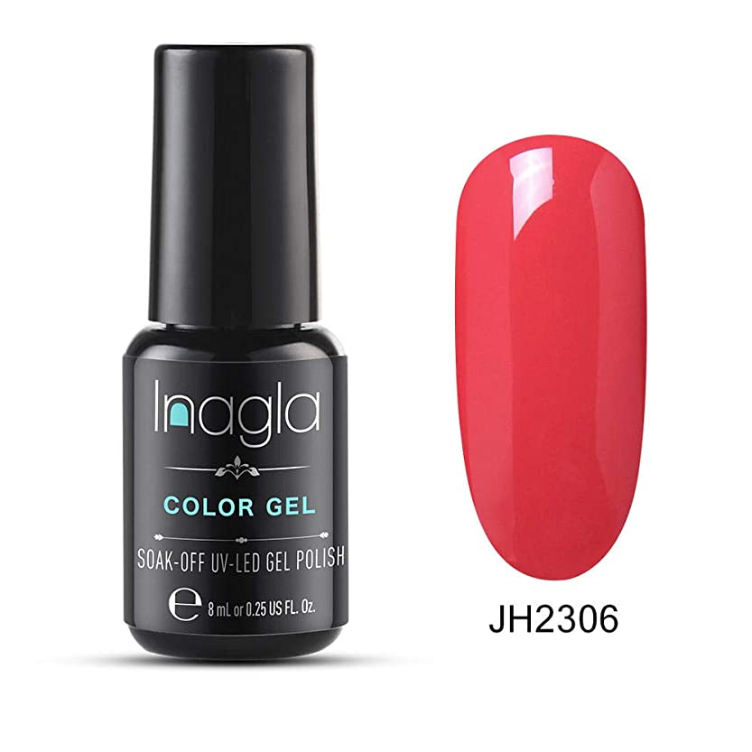 マリン美容師差別化するInagla ジェルネイル カラージェル ワインレッド系 8ml-JH006