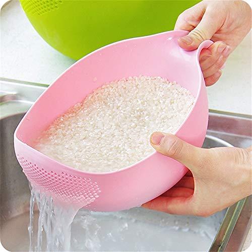 LLan GroentenFruit Wassen Keuken Accessoires Fruit Bowl Filter Cleaning Plastic vergiet Zeef Keuken Gadgets Koken Gereedschap (Color : Random color)
