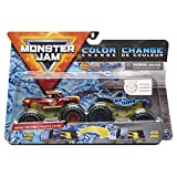 Monster Jam 2020 Color Change 1:64 Scale 2-Pack, Radical Rescue and Blue Thunder