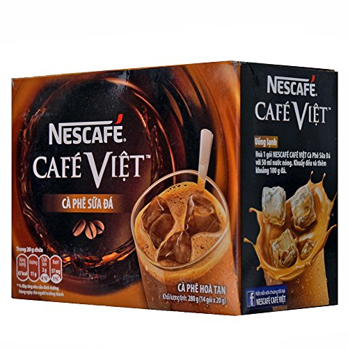 即溶越南牛奶冰咖啡 Nescafe Cafe Viet Milky Iced coffee instant coffee & Creamer drink mix - 14 Packets/ 9.87oz