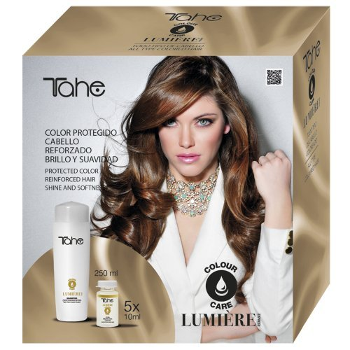 Tahe – Lumière Express – Pack Colour Care maintien Shampooing + Couverture cura