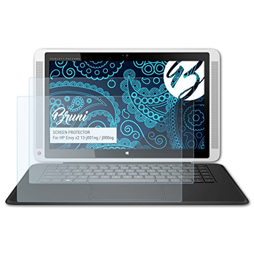 Bruni Schutzfolie kompatibel mit HP Envy x2 13-j001ng / j000ng Folie, glasklare Bildschirmschutzfolie (2X)