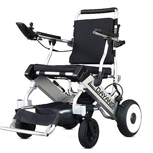 FHKBB Zusammenklappbarer tragbarer Elektrorollstuhl Älteres Offroad-Rollstuhl-Elektroauto
