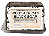 West African Black Soap |100% Organic|#1 Psoriasis, Acne, Eczema Treatment| For Face, Hair & Body| Anti-aging & Wrinkles properties| Guaranteed results| Essentials by atttire (8 Ounce Bar)