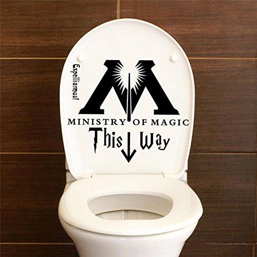 Harry Potter Magic Department in questo modo bagno sedile del water adesivi murali in vinile decorazioni per la casa applique fai da te divertente scherzo citazione arte
