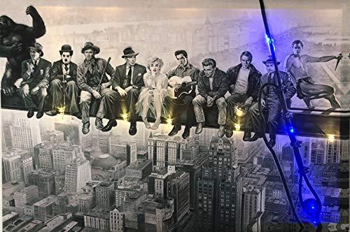 Samarkand - Lights LED-Bild mit Beleuchtung Stars/Hollywood LED- Bilder Leinwandbild 65 x 45 cm Leuchtbild