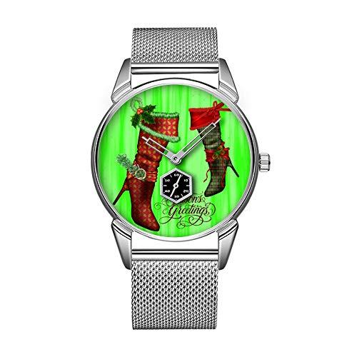 Mode wasserdicht Uhr minimalistischen Persönlichkeit Muster Uhr -147. schicke Weihnachts-Strumpf-Uhr
