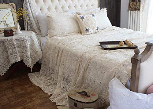 Hand Crochet Hook Flower Bed Cover