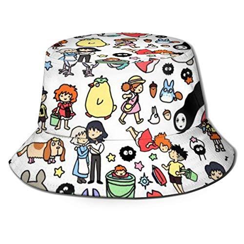 To-Toro No Face Hombre Sombrero de Pescador Verano Protección UV Sombreros de Cubo de Viaje Gorra de Sol Plegable de Playa para Hombres y mujeres-3F