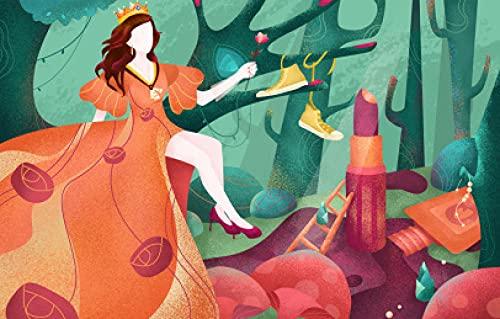 OSDFN Rompecabezas para Adultos 1000 Piezas Decoración del Hogar, Juegos De Rompecabezas Diversión Familiar Juguete Educativo para Niños, (Princesa del Bosque)