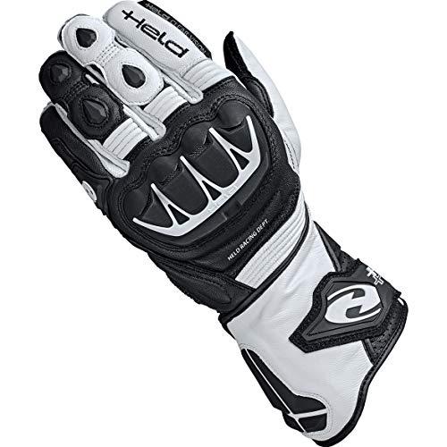 Held Motorradhandschuhe lang Motorrad Handschuh Evo-Thrux II Sport Handschuh schwarz/weiß 7, Herren, Sportler, Ganzjährig, Leder