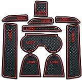 Alfombras para Consola Central Portavasos para Mazda 6 2003~2005, alfombrilla de almacenamiento Alfombrillas Antideslizantes de Goma Coche accesorios de interior