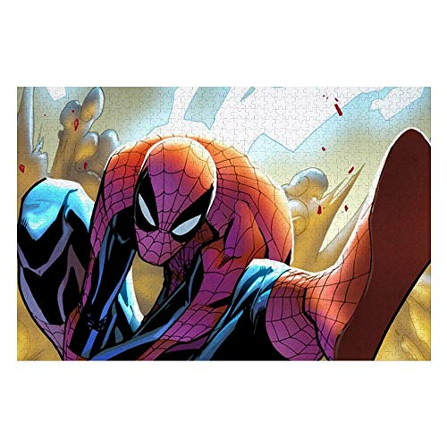 Wooden Jigsaw Puzzles Adults, Spiderman (24), Challenge and Fun, for Teens Kids, 500 pcs