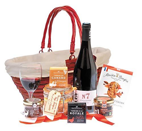 """Ducs de Gascogne - Panier gourmand """"Rouge passion"""" comprenant 7 produits dont 1 bloc de foie gras et 1 vin - 944845"""