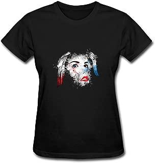 ZhiBo Vintage Rotten Monster Clown Girl Customs T-Shirts for Women