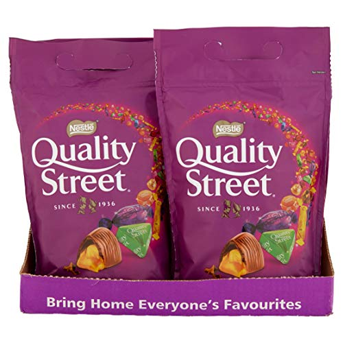 Quality Street Assorted Chocolates Pouch Bag, 500 g (Pack of 8)