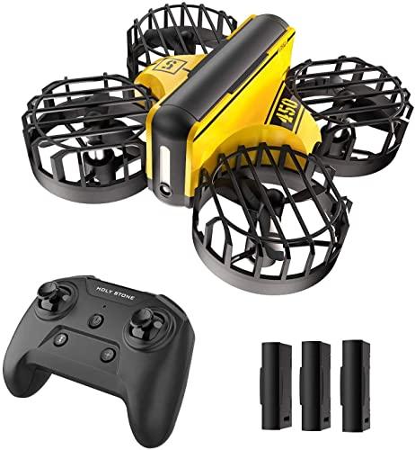 HS450. Mini drone for bambini principianti - azionato a mano Nano Quadcopter con altitudine hold throw to go ostacolo evitamento cerchio fly fly flips 3 batterie giocattoli for ragazzi e ragazze drone
