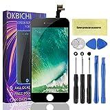 OKBICHI Pantalla LCD Táctil Reemplazo para iPhone 6 (4.7'), Ensamblaje de Marco Digitalizador con Herramienta de reparación y Protector de Pantalla (Nergo)