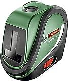 Bosch UniversalLevel 2 Set de nivel láser autonivelante con 3 baterías AA, en estuche...