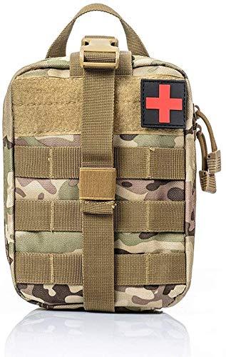 Médico Bolsa de Primeros Auxilios Mochila Militar Multifunción Bolsa Táctica Compacta Botiquín Médico,con al Aire Libre para Caza para Hogar Camping (Camuflaje Cp)