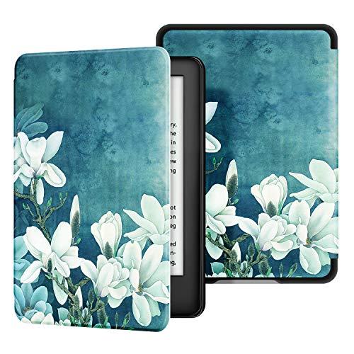 Ayotu Custodia in Pelle per Kindle Paperwhite-Custodia impermeabile dipinta per svegliarsi/dormire automaticamente(solo per Kindle Paperwhite 10ªgen-modello 2018),magnolia