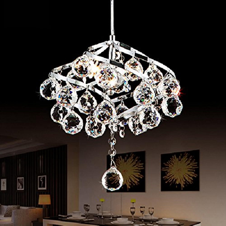 LT&NT Kristall-kronleuchter,LED deckenleuchte,Moderne einfach,Restaurant Lampe,Schlafzimmer küche korridor dekorative Beleuchtung-1 Licht D26xH75cm(D10xH30inch)