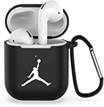 Airpods Case, Compatible with AirPods 2/1 Durable Shockproof Drop Proof Case for Cute Girls Men (Black-j)