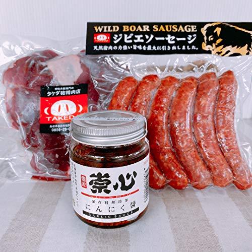 猪肉200g 猪肉ソーセージ6本 にんにく醤1個 (合計3品)