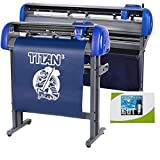 USCutter 28' Titan 3 Vinyl Cutter with Servo Motor & ARMS Contour Cutting Plus Design/Cut Software