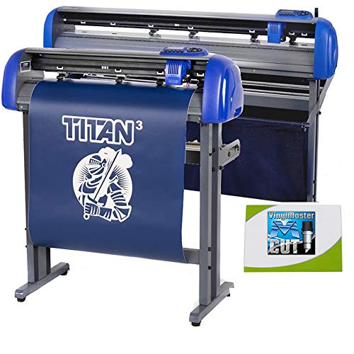 "USCutter 28"" Titan 3 Vinyl Cutter with Servo Motor & ARMS Contour Cutting Plus Design/Cut Software"