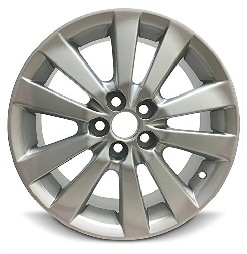 Road Ready Car Wheel For 2009-2010 Toyota Corolla 16 Inch 5 Lug Gray Aluminum Rim Fits R16 Tire - Exact OEM Replacement - Full-Size Spare