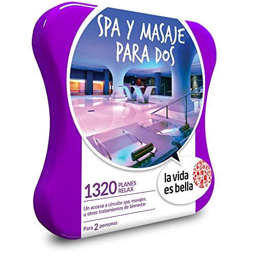 LA VIDA ES BELLA - Caja Regalo - SPA Y MASAJE PARA DOS - 1320 planes relax como masajes relajantes,...