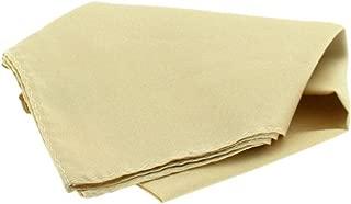David Van Hagen Mens Satin Silk Handkerchief - Ivory