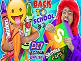 Skittless Paper? Back To School Diy Edible Supplies Hacks 2 Airheads and Twizzlers Funnel Vision Skit