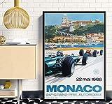 Kunst Poster Super Rennwagen F1 Monaco Retro Motor Poster