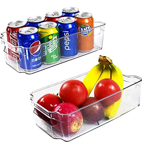 VERONLY Kühlschrank Organizer Set Aufbewahrungsbox,Küche Tidy Kühlschrankbox Container Boxen, Stauraum Organiser Gefriertruhe Platzsparer für Schränke, Regale, Waschbecken,Büromaterialien–2 Stück