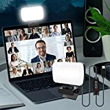 sylvwin Video Conference Lighting,Webcam Light with 3 Light Modes and Stepless Dimming,Zoom Call Lighting for Video Recording/Live Streaming/Remote Working/Online Meeting& Laptop Video Conferencing