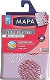 MAPA - Housse de Repassage pour table à repasser - Triple Epaisseur Titane - Meilleure glisse du fer - Anti-tâche et Anti-Jaunissement - Taille 1 : 120x40 cm