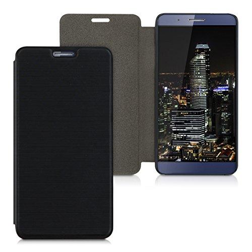 kwmobile Hülle kompatibel mit Huawei ShotX - Handy Case Handyhülle - Schutzhülle Klapphülle in Schwarz