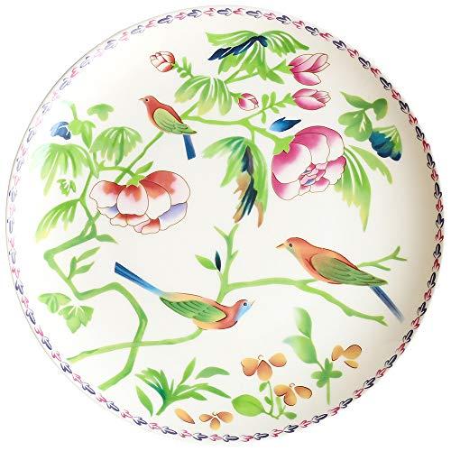 YUWANW pintado a mano mexicana plato de carne de cerámica viento vajilla placa plana bajo vidriado corazón plato de...