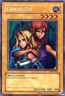 Yu-Gi-Oh! - Gemini Elf (LON-000) - Labyrinth of Nightmare - 1st Edition - Secret Rare