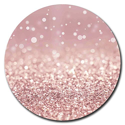 Pretty Gaming Mouse Pads Fashion Luxury Design Mouse Mat Non Slip Rubber Base Mousepad for Girl Woman Rose Gold Rainbow Glitter