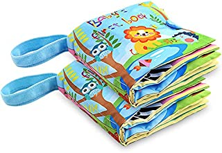 Fabric Baby Soft Activity Book, Cloth Book Baby Gift, Fun Interactive Soft Book for Babies, Infants, Boys and Girls (Baby'...