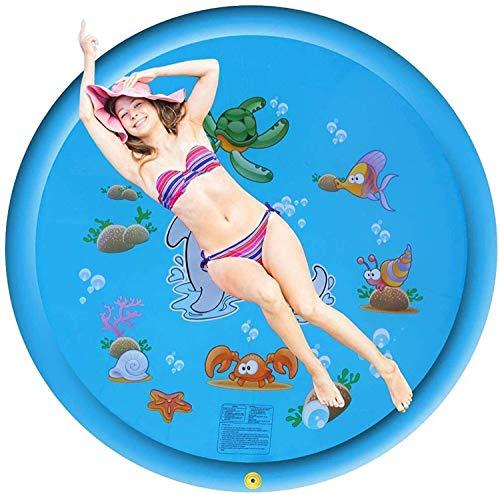 XINGDONG Juguete para niños pequeños - Splash Pad, Sprinkler & Splash Play Mat para niños pequeños, verano al aire libre juego de agua Juegos Juegos Jardín Playa Spray Mat, Piscina de agua inflable pa