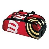 WILSON Tennisbag BLX Tour Duffle, rot/schwarz/Gold, 80x36x32 cm